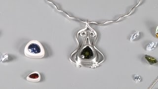 Make an Art Nouveau Pendant using Silver Metal Clay by Lisel Crowley