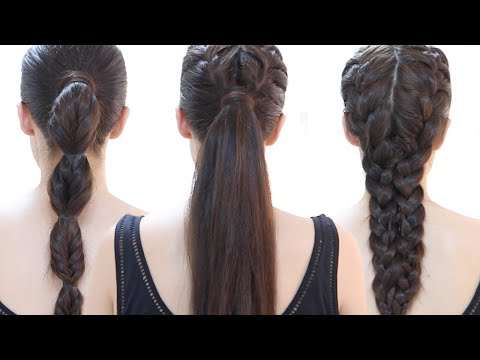 easy-quick-gym-hairstyles-|-step-by-step