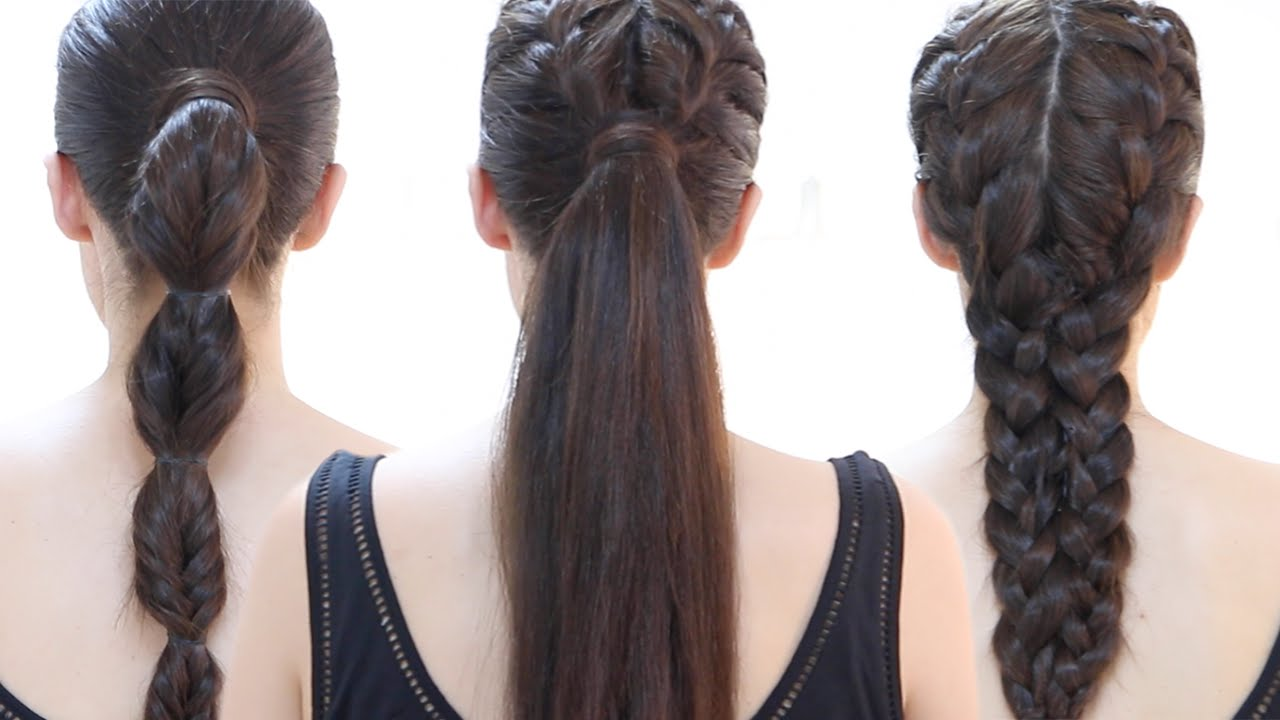Easy quick gym hairstyles step by step youtube - Semirecogidos faciles para hacer en casa ...