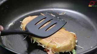 সাব সেন্ডউইচ রেসিপি ফ্রাইং পেন এ | Easy Sub Sandwich Recipe | Sub Sandwich Recipe without Machine