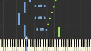 Cover images Sea (C) Song (Zee (C) lied) - Hal Leonard Synthesia Piano Tutorial