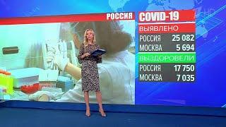 В России за сутки выявили 25 082 случая коронавируса