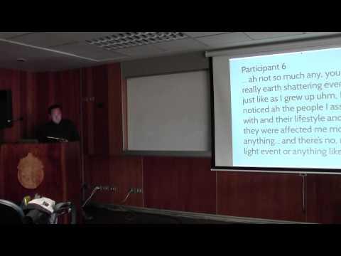 James Cresswell en Coloquios Tópicos Actuales en Psicología 2014