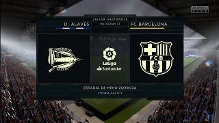 Fifa 20| deportivo alaves vs fc barcelona| la liga full match