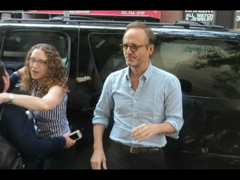 Actor John Benjamin Hickey arriving on Today  to te