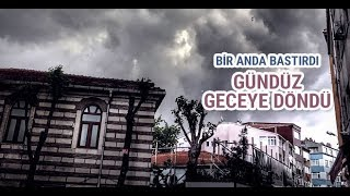 İstanbul Dolu Yağışı Hızlı Çekim - 27 Temmuz 2017
