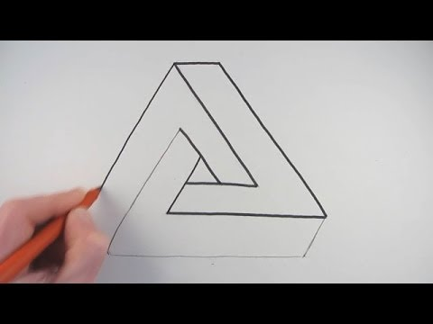 How to draw an impossible triangle in a very simple way for Really hard stuff to draw