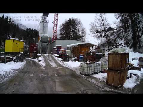 Unloading in Switzerland on construction