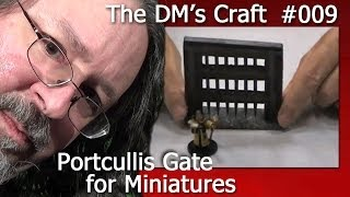 Craft a portcullis gate for your D&D game tiles. (the DM