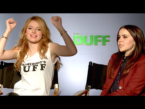 Mae Whitman & Bella Thorne WEIRDEST TRAITS! The Duff Interview Part 1