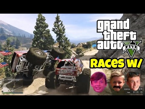 GTA 5: Fun Races #1 w/ Ryan, Pat and Steven