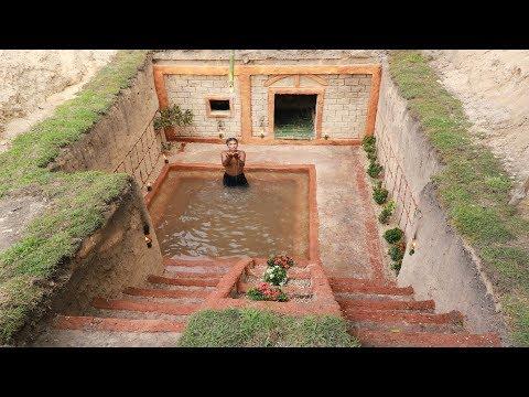 Amazing Man Dig To Build Underground House & Great Underground Swimming Pool