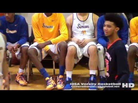 * (2) Whitney Young Dolphins@Simeon Wolverines Varsity Basketball2a (Chicago Sports)