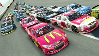BIGGEST PACK EVER???? -- NASCAR '15 Talladega -- 4 AND 5 WIDE RACING!]