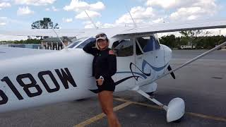 Gyrocopter Girl Flying from KSGJ to Everglades 2018 04