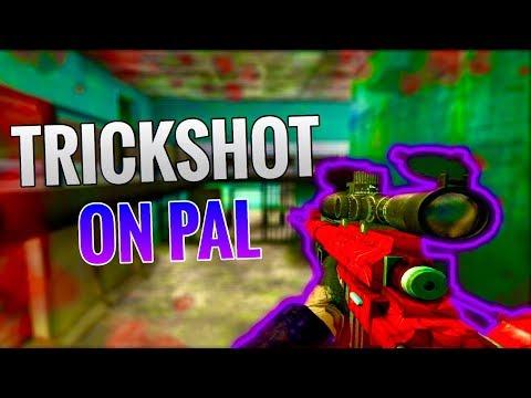 [Bullet Force] Prison Trickshot on Pal (4 Shots) + TDM Outpost Sniping Gameplay