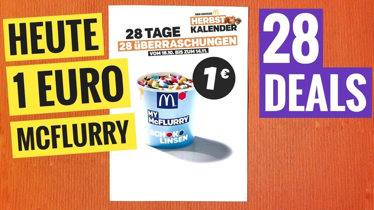 Heute 1 Mcflurry 28 Tage Super Deals Bei Mcdonald S Herbst