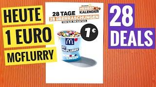 Heute 1€ Mcflurry - 28 Tage Super Deals Bei Mcdonald's Herbst Kalender