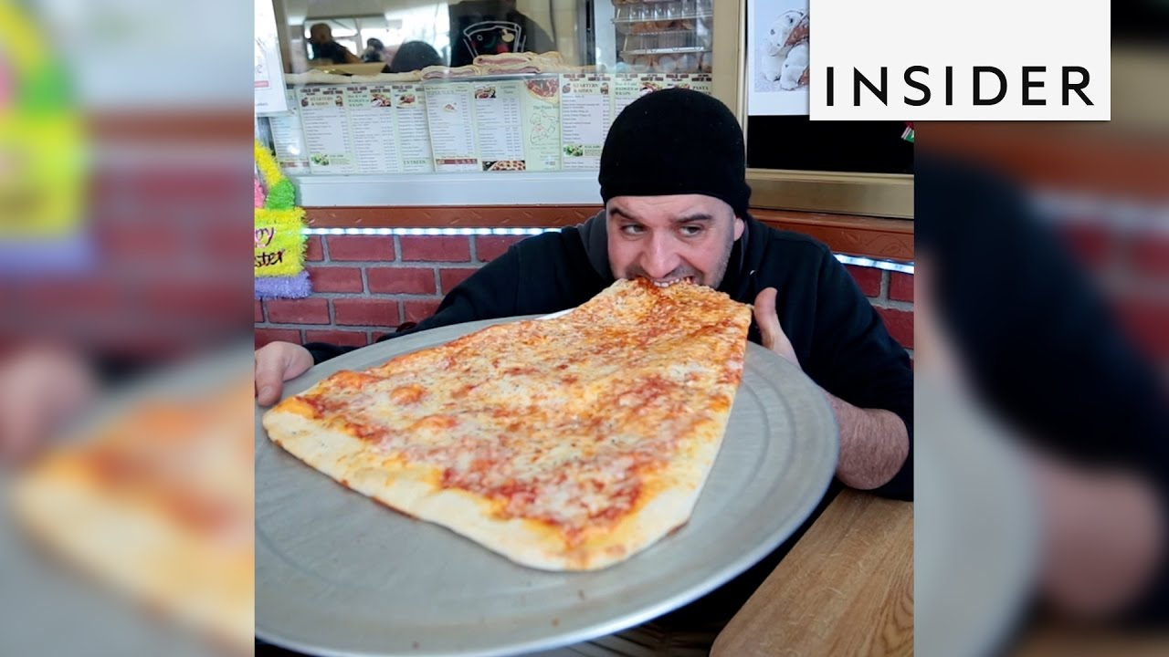 You Can Buy A 2 Foot Long Pizza Slice In NYC