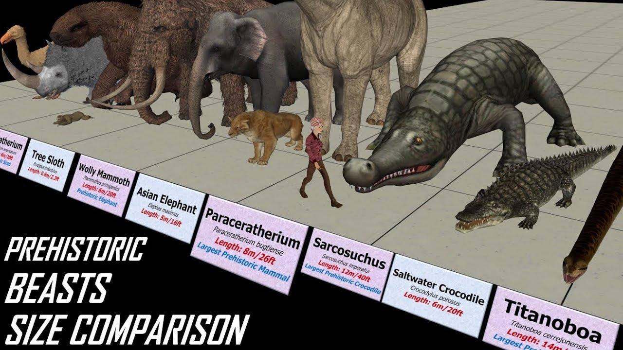 Download Prehistoric Beasts Size Comparison