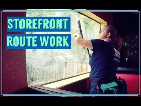 window cleaning route work