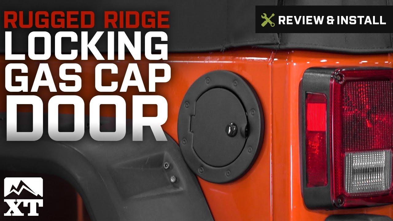 Jeep Wrangler Rugged Ridge Locking Gas Cap Door 2007 2017