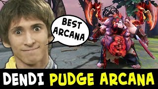 Dendi + PUDGE ARCANA first time — BEST mid Pudge in Dota
