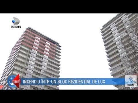Stirile Kanal D (17.03.2018) - Incendiu intr-un bloc rezidential de lux! Editie COMPLETA