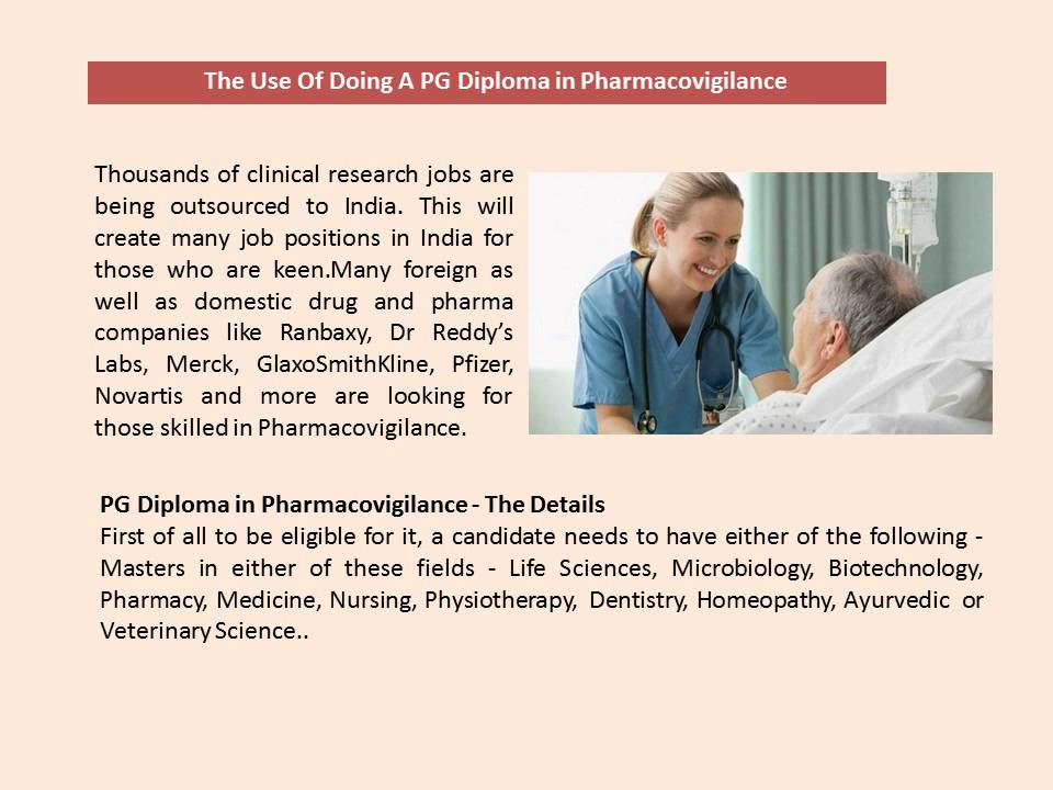 PG Diploma in Pharmacovigilance, Clinical Research Courses
