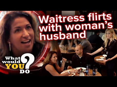 Wife confronts waitress for flirting with husband during date night | WWYD?