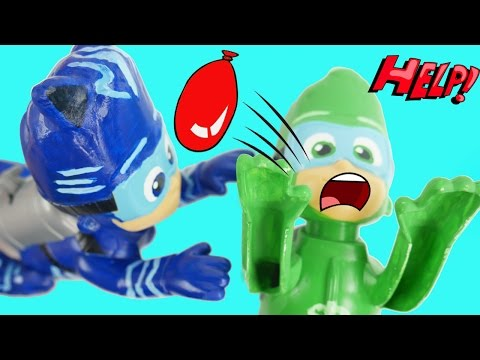 PJ Masks Frozen Dolls Have Water Balloon Fight Queen Elsa Prince Hans Fashems Toy Surprises