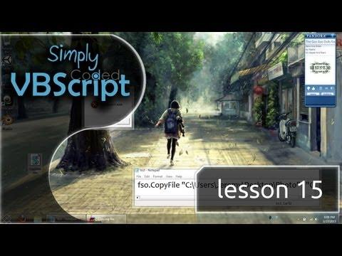 VBScript Basics, Part 15 | Copy - Move - Rename - Files & Folders