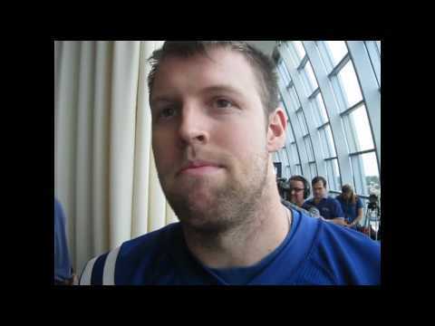 Tom Santi #86 Indianapolis Colts TE s talking about Poland video by Chris Reiko