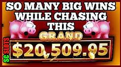 WHOO! Casino Slot Big Win Bonus While Chasing The GRAND! Lock it Link Slot Machine Bonus Games