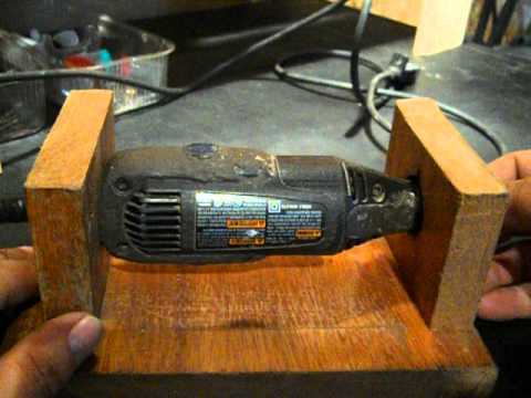 Dremel Stand Made From Wood Makes It A Mini Bench Grinder