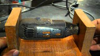 Dremel  Stand  Made From Wood  (makes It A Mini Bench Grinder)