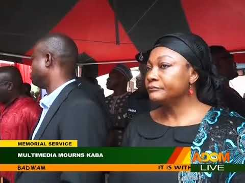 Multimedia Holds Memorial Service for KABA - Badwam on Adom TV (20-11-17) Part 2