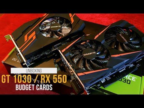 فتح علبة كروت الفئة الاقتصادية [ GT 1030 & RX 550 ] - GT1030 & RX550 UNBOXING