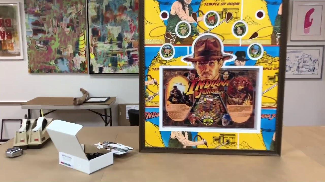 Indiana Jones Pinball-Themed Shadowbox