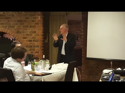 Alan Lee discusses his artwork at the Tolkien Society Annual Dinner 2016