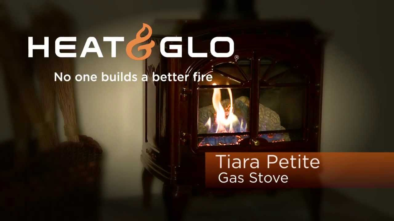 heat u0026 glo tiara petite gas stove video youtube