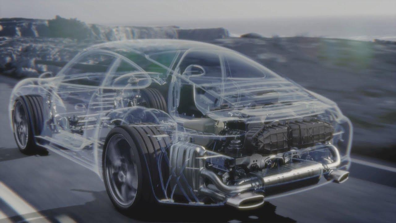 hight resolution of porsche 911 carrera s engine animation