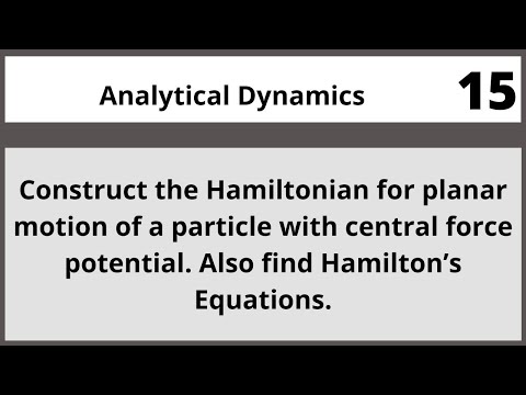 Analytical Dynamics in Hindi Urdu MTH382 LECTURE 15
