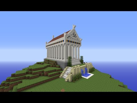 Minecraft Greek City Temple: Building with Optical Creeper Episode 1