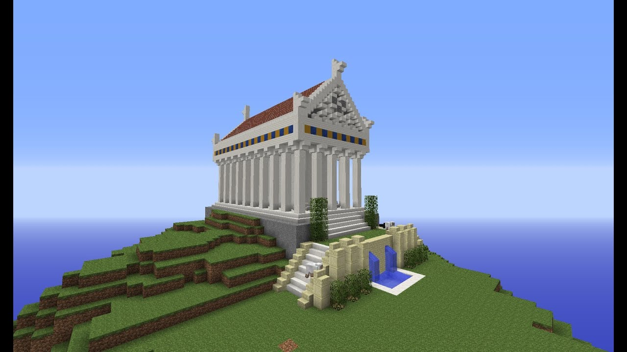 Castle House Plans Minecraft Greek City Temple Building With Optical Creeper