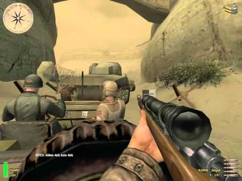 Medal Of Honor: Allied Assault Breakthrough - Kasserine Pass Part II (Part 2) [Walkthrough]