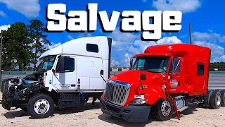 Download Looking For A NEW PROJECT At Copart | SEMI Truck Hunting | CRAZY Car Wrecks | Salvage Auto Auction Mp3 and Videos