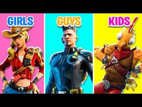 GIRLS Vs GUYS Vs KIDS In Fortnite Battle Royale