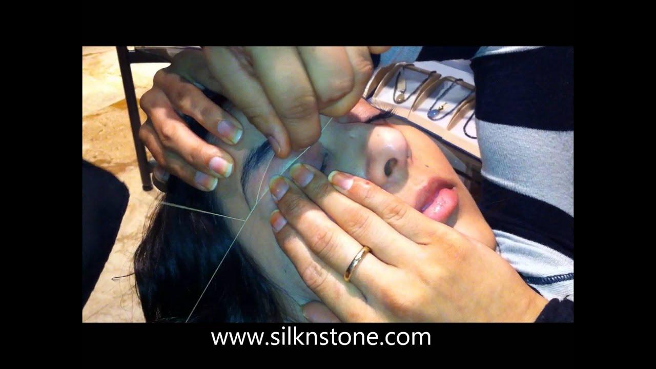 Facial Eyebrow Threading Service By Silk Stone Youtube