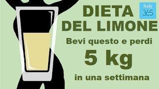 dieta per perdere 5 kg in 5 settimane